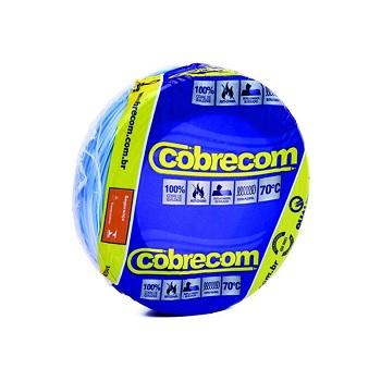 Cabo Flexível 6,0mm 50m 750v Azul Claro - Ref. 1150702401-50M - COBRECOM