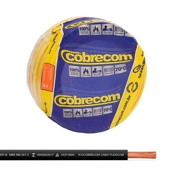 Cabo Flexível 10mm 100m 750v Preto - Ref.1150804401-100m - COBRECOM