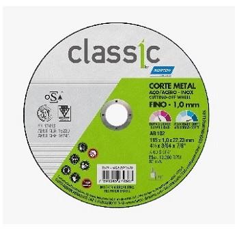 Disco de Corte 4.1/2 Polegadas Inox 2 Telas Classic AR102 - Ref.66253371670 - NORTON