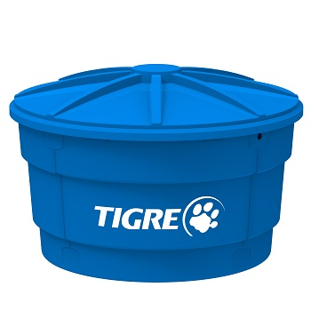 Caixa D água Polietileno 500 Litros Conic Tampa Azul V4 - Ref.100017470 - TIGRE