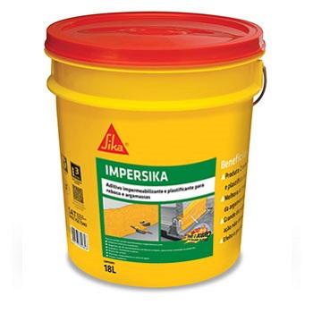 Aditivo Impermeabilizante e plastificante 18L Argamassa/Chapisco IMPERSIKA - Ref. 427911 - SIKA