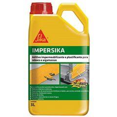Aditivo Impermeabilizante e Plastificante 3L Argamassa/Chap IMPERSIKA - Ref. 438262 - SIKA