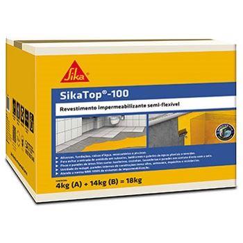Impermeabilizante Revestimento 18kg SikaTop 100 - Ref.428057 - SIKA