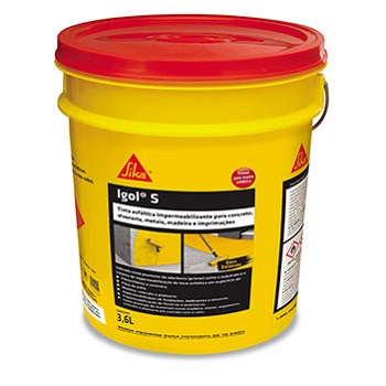 Tinta Betum 3,6 Litros Base Solvente Igol S - Ref.478272 - SIKA
