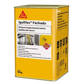 Impermeabilizante Acril 18KG IGOLFLEX Fachada Branco - Ref.427555 - SIKA
