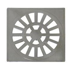 Grelha Quadrada PVC 102mm Cromado - Ref. GR2 - ASTRA