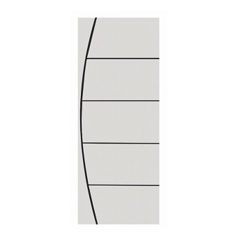 Porta Madeira 60x210 Frisada Duratex Branca M01 - Ref.*1327 - KDK