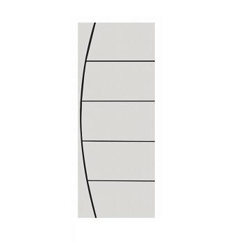 Porta Madeira 70x210 Frisada Duratex Branca M01 - Ref.1328 - KDK