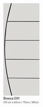 Porta Madeira 80x210 Frisada Duratex Branca M01 - Ref.1329 - KDK