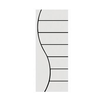 Porta Madeira 60x210 Frisada Duratex Branca M02 - Ref.1445 - KDK