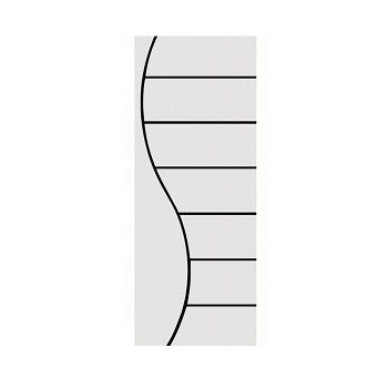 Porta Madeira 70x210 Frisada Duratex Branca M02 - Ref.1446 - KDK