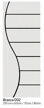 Porta Madeira 80x210 Frisada Duratex Branca M02 - Ref.1447 - KDK