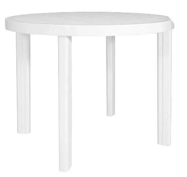 Mesa Plástica 90cm Redonda Guinea Branca - Ref.F413000 - GARDENLIFE