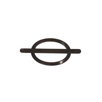 Fivela Plástica 170mm Oval para Cortina Imbuia - Ref.210002001 - IMPERIAL ARTES