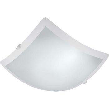 Plafon em Vidro 1 Luz 60w 25cm Quadrado Clean E27 - Ref. CL925PBN - BROZERATE