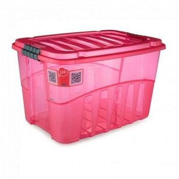 Caixa Plástica Alta 29 Litros Gran Box Vermelha - Ref.009066 - PLASUTIL