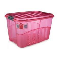 Caixa Plástica Alta 56 Litros Gran Box Vermelha - Ref. 009069 - PLASUTIL