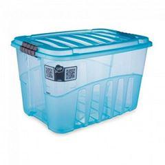 Caixa Plástica Alta 56 Litros Gran Box Azul - Ref.009070 - PLASUTIL