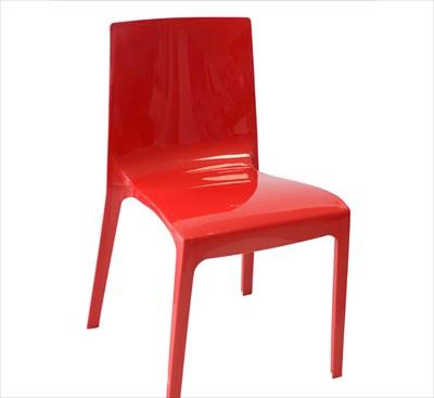 Cadeira em Polipropileno Taurus Vermelha - Ref.6116 - PLASÚTIL