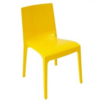 Cadeira em Polipropileno Taurus Amarela - Ref.006809 - PLASÚTIL