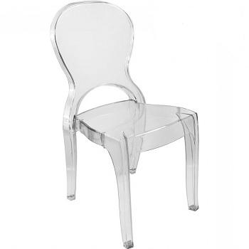 Cadeira de Policarbonato Elegance Transparente - Ref.006005 - PLASÚTIL