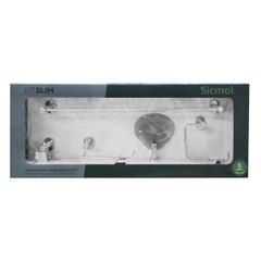 Kit Acessórios para Banheiro em Alumínio com 5 Peças Slim - Ref. 24476 - SICMOL