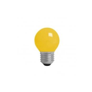 Lâmpada Incandescente 15W 220V Bolinha Amarela E27 - Ref. 4717 - KIAN