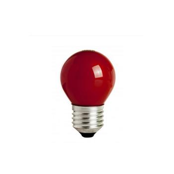 Lâmpada Incandescente 15W 220V Bolinha Vermelha E27 - Ref. 4725 - KIAN