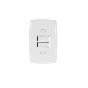 Interruptor 2 Tomadas Simples Safira Branco - Ref. 2218 - ILUMI