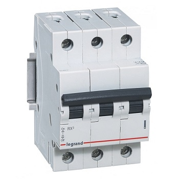 Disjuntor Tripolar DIN 40A RX3 Curva C Mini - Ref.419321 - PIAL