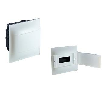 Quadro Distribuição PVC 8D Embutir Branco - Ref.134008 - CEMAR