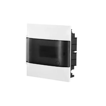 Quadro Distribuição PVC 8D Embutir Transparente - Ref.134018 - CEMAR