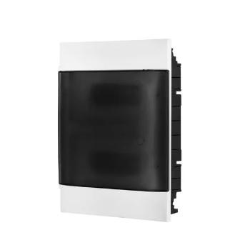 Quadro Distribuição PVC 24D Embutir Transparente  - Ref.135012 - CEMAR