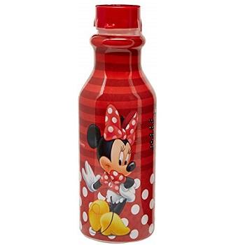 Garrafa Plástica 500ml Retrô Minnie Vermelho - Ref.9077 - PLASÚTIL
