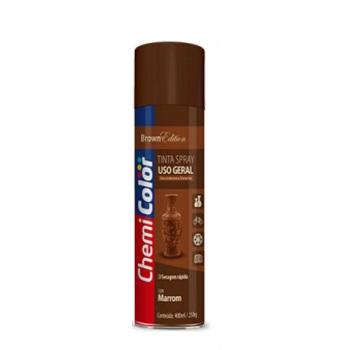 Tinta Spray Uso Geral 400ml  Marrom - Ref. 680134 - CHEMICOLOR