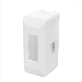 Caixa Distribuição PVC 1 Disjuntor Sobrepor Branco - Ref.004700001 - INPLAST
