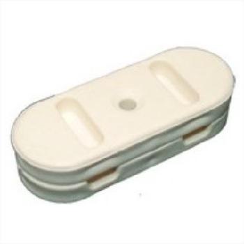 Fixa Fio Plástico Cleats Monofásico Branco - Ref.3011 - ROMAZI