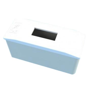 Caixa Distribuição PVC 1D Embutir Branco - Ref.7140 - TAF