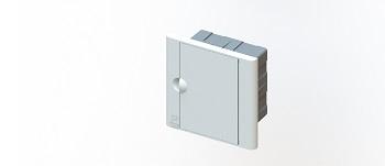 Caixa Distribuição PVC 3D Embutir Branco - Ref.7052 - TAF