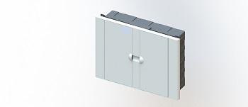 Caixa Distribuição PVC 12D Embutir Branco - Ref.7059 - TAF