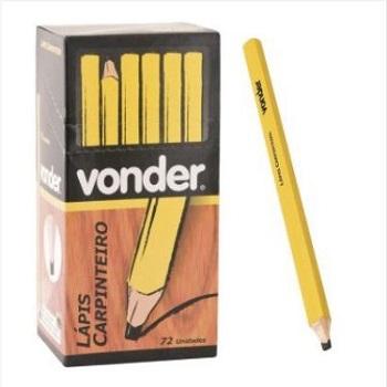 Lápis Carpinteiro Madeira 17cm - Ref. 3340072000 - VONDER