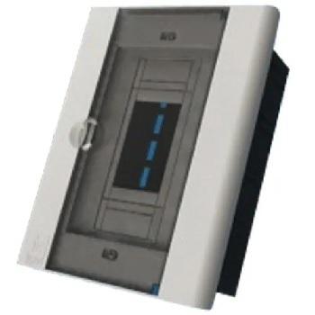 Caixa Distribuição PVC 3N/4D Embutir Fumê - Ref.7141 - TAF