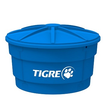Caixa D água Polietileno 1000 Litros Conic V4 Tampa Azul - Ref.100017471 - TIGRE