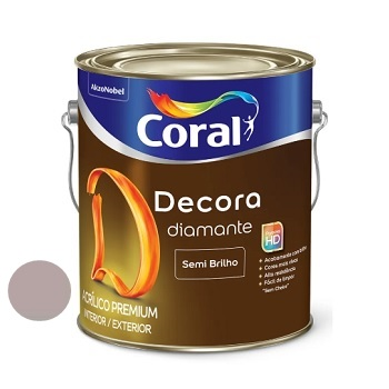 Tinta Acrílica Semibrilho 3,6 Litros Decora Ado Rupestre - Ref. 5280902 - CORAL