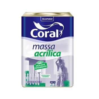Massa Acrílica 25Kg - Ref.5353648 - CORAL