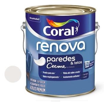 Tinta Acrílica Fosca Renova Branco Gelo 3,2 Litros - Ref. 5299894 - CORAL