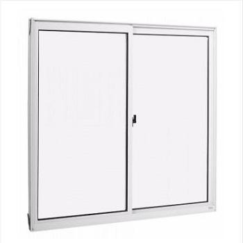Janela Alumínio 100x100 2 Folhas Tropical Vidro Liso - Ref. 912264 - ALUVID