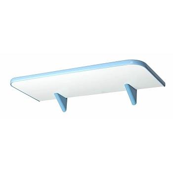 Prateleira de Madeira 20x45cm com Suporte Soft Branco e Azul - Ref.366045020 - PRATEFIX