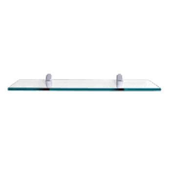 Prateleira de Vidro 15x30cm Glass Reta com Suporte - Ref.441030015 - PRATEFIX