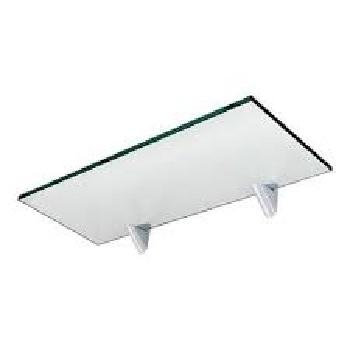 Prateleira de Vidro 20x40cm Retangular com Suporte Glass - Ref.441040020 - PRATEFIX
